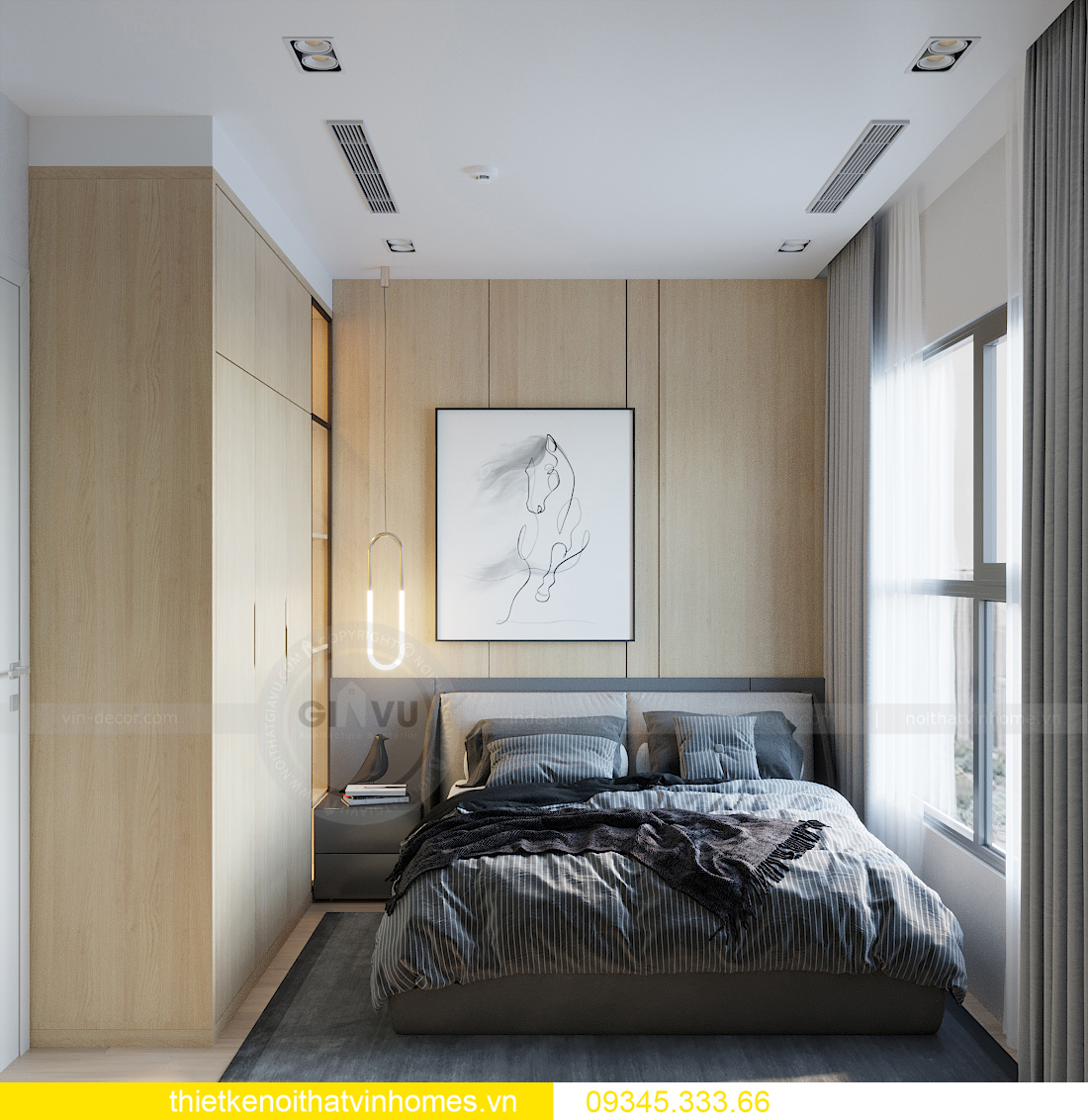 mẫu thiết kế nội thất căn hộ Smart City tòa S101 căn 11 6