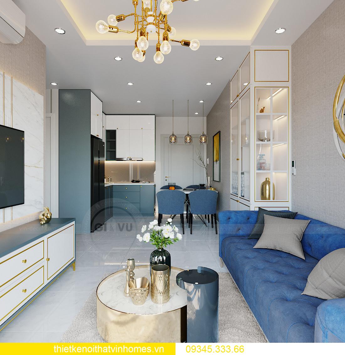thiết kế nội thất Vinhomes Smart City tòa S201 căn 18 2