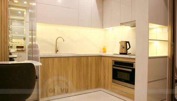 thiết kế thi công nội thất căn hộ Smart City nhà anh Hòa 1