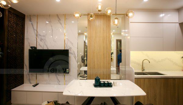 thiết kế thi công nội thất căn hộ Smart City nhà anh Hòa 2