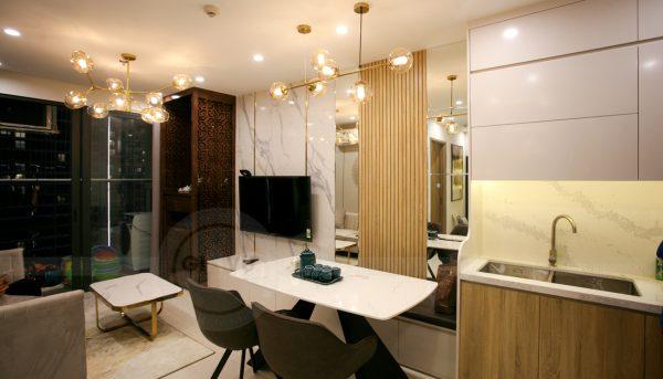 thiết kế thi công nội thất căn hộ Smart City nhà anh Hòa 5