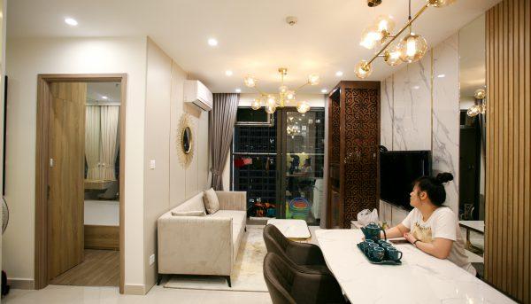 thiết kế nội thất căn hộ Smart City nhà anh Hòa