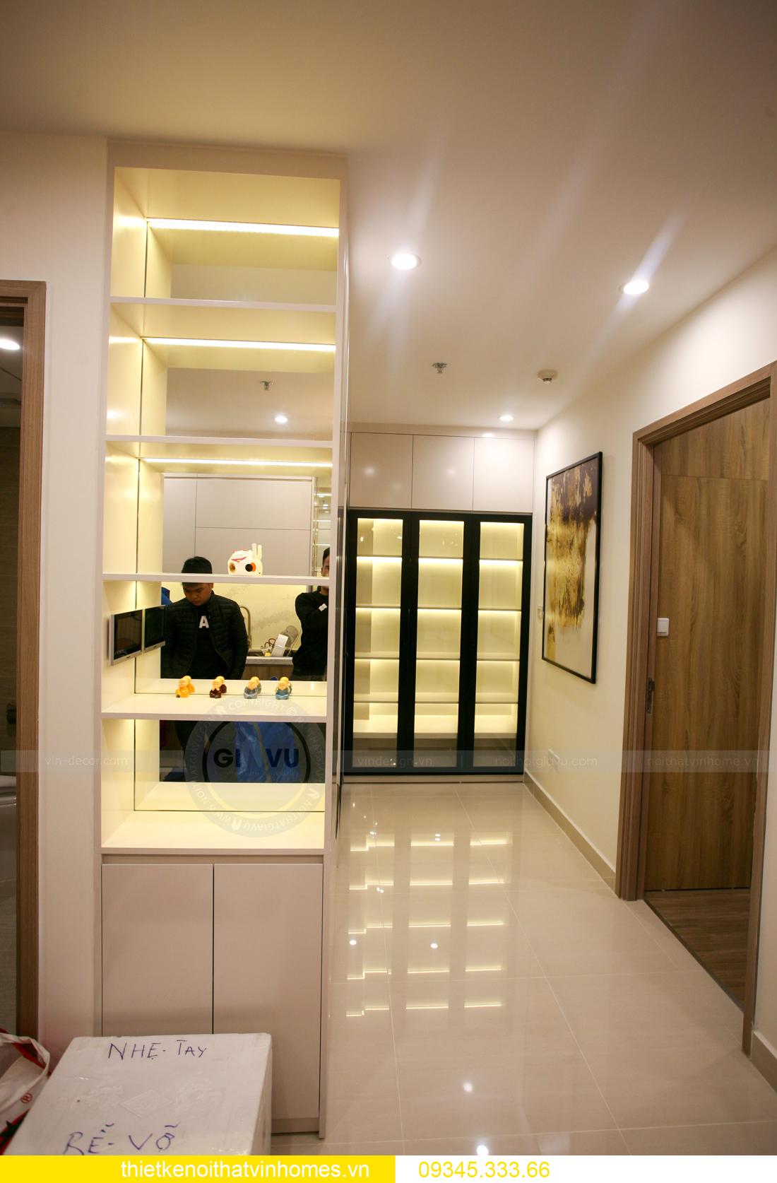 thiết kế thi công nội thất căn hộ Smart City nhà anh Hòa 8
